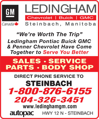 Ledingham GM (204-326-3451) - Display Ad