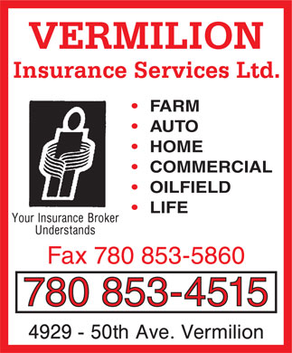 Vermilion Insurance Services Ltd (780-853-4515) - Display Ad
