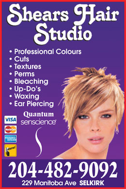 Shears Hair Studio (204-482-9092) - Display Ad