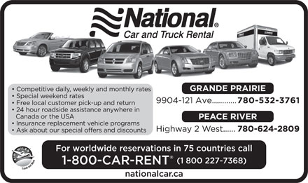 National Car Rental (780-532-3761) - Display Ad