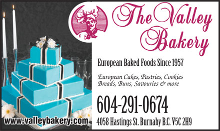 Valley Bakery Ltd (604-695-1675) - Annonce illustrée