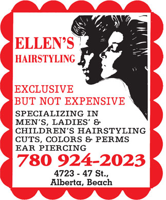 Ellen's Hairstyling (780-924-2023) - Display Ad - 780 924-2023