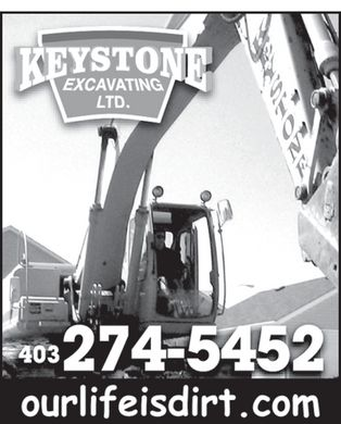Keystone Excavating Ltd (403-274-5452) - Annonce illustr&eacute;e - KEYSTONE EXCAVATING LTD. 403 274-5452 ourlifeisdirt.com KEYSTONE EXCAVATING LTD. 403 274-5452 ourlifeisdirt.com