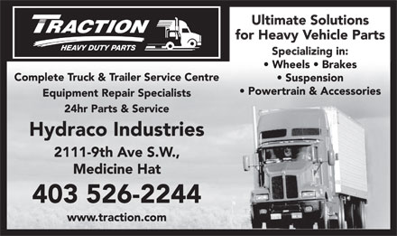 Hydraco Industries Ltd (403-526-2244) - Display Ad