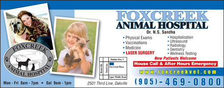 Foxcreek Animal Hospital (905-469-0800) - Display Ad