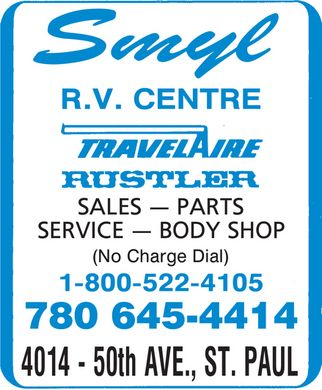 Smyl RV Centre (1-888-282-1039) - Display Ad