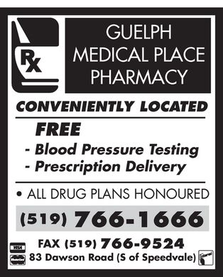 Guelph Medical Place Pharmacy (519-766-1666) - Display Ad