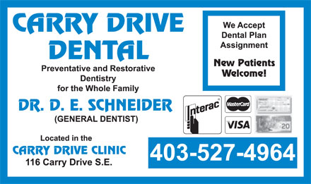 Carry Drive Dental (403-527-4964) - Annonce illustr&eacute;e
