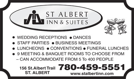 St Albert Inn & Suites (780-544-0091) - Display Ad