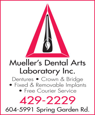 Mueller's Dental Arts Laboratory Inc (902-429-2229) - Annonce illustrée