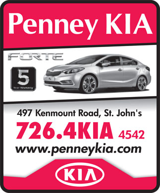 Penney KIA (709-726-4542) - Annonce illustr&eacute;e