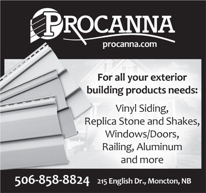 Procanna Siding Materials Ltd (506-858-8824) - Annonce illustrée