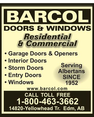 Barcol Doors & Windows (1-800-463-3662) - Display Ad