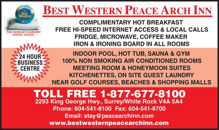 Best Western Peace Arch (604-541-8100) - Display Ad