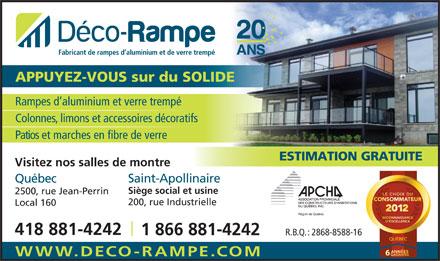 D Co Rampe Inc 200 Rue Industrielle Rr 3 Saint
