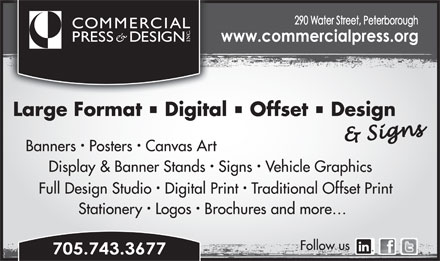 Commercial Press & Design (705-743-3677) - Annonce illustrée
