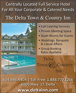 The Delta Town & Country Inn (604-946-4404) - Display Ad - The Delta Town & Country Inn 02068197  The Delta Town & Country Inn 02068197