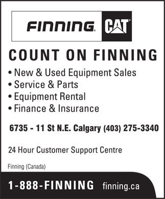 Finning (Canada) (403-275-3340) - Display Ad