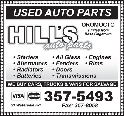 T Hill Auto Parts (506-357-5493) - Display Ad