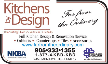 Kitchens By Design (905-333-1355) - Annonce illustrée