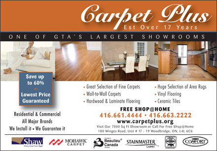 Carpet Plus (416-661-4444) - Display Ad