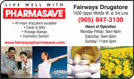 Pharmasave (905-847-3130) - Display Ad