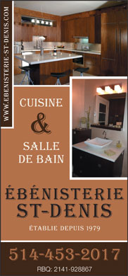 Ebénisterie St Denis (514-453-2017) - Display Ad