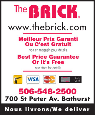The Brick (506-548-2500) - Display Ad