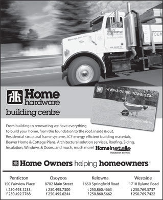 Home Hardware Building Centre - Penticton   (250-493-1233) - Annonce illustrée
