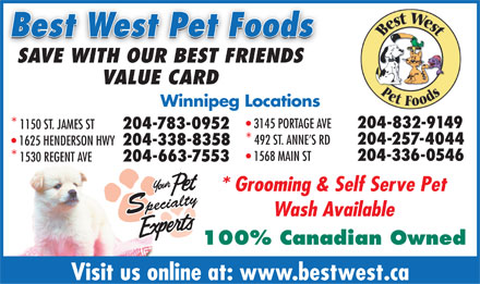 Best West Pet Foods Inc (204-783-0952) - Display Ad