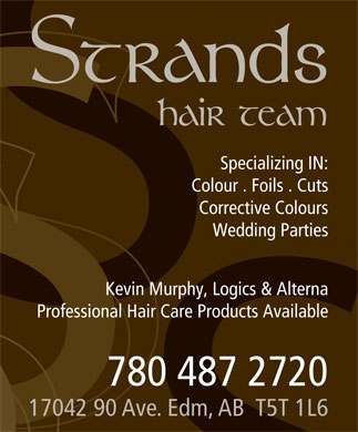 Strands Hair Team (780-487-2720) - Display Ad