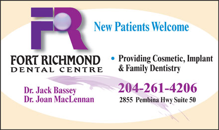 Fort Richmond Dental Centre (204-261-4206) - Display Ad