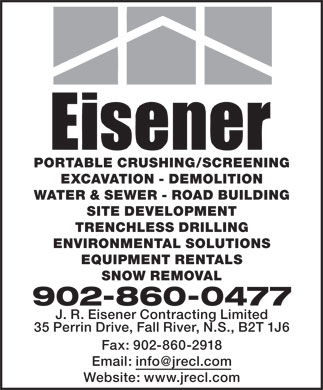 Eisener Contracting Ltd (902-860-0477) - Annonce illustrée