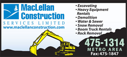 MacLellan Construction Services Limited (902-475-1314) - Display Ad
