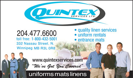 Quintex Services Ltd (204-477-6600) - Display Ad