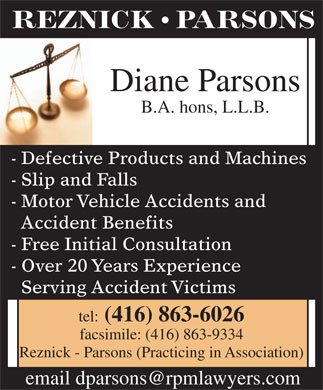 Parsons Diane (416-863-6026) - Display Ad