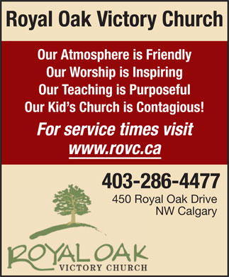 Royal Oak Victory Church (403-286-4477) - Display Ad