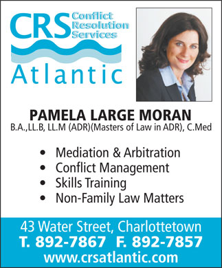 Conflict Resolution Services (CRS) Atlantic (902-892-7867) - Annonce illustrée