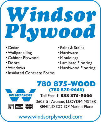 Windsor Plywood (780-875-9663) - Annonce illustrée