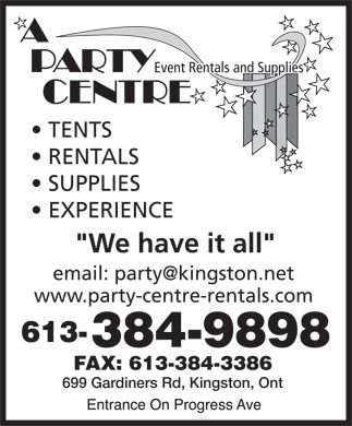 A Party Centre (613-384-9898) - Display Ad