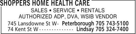 Shoppers Home Health Care (705-743-5100) - Display Ad