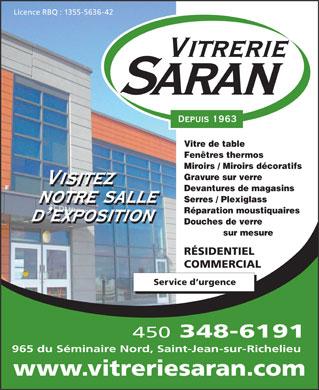 Vitrerie saran 965 boul du s minaire n saint jean sur for Miroir decoratif montreal