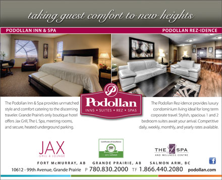 Podollan Inn & Spa (780-357-7289) - Display Ad