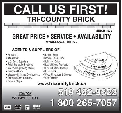 Tri County Brick 279 Bayfield Rd Clinton On