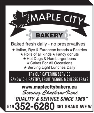 Maple City Bakery (519-352-6280) - Annonce illustrée