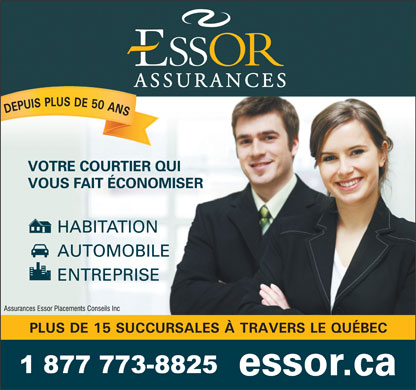 Assurance - Essor Assurances Placements Conseils Inc (418-692-0660) - Annonce illustr&eacute;e