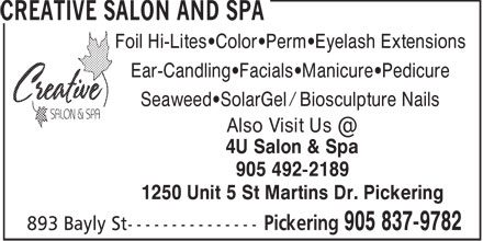 Creative Salon and Spa (905-837-9782) - Annonce illustrée