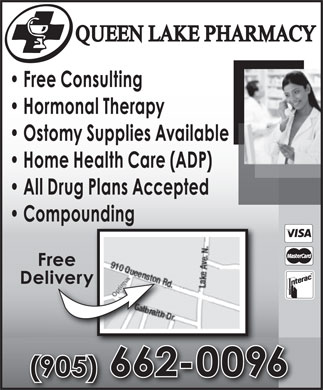 Queen Lake Pharmacy (905-662-0096) - Annonce illustrée