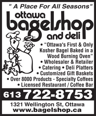 Bagelshop &amp; Deli (Ottawa) (613-722-8753) - Annonce illustr&eacute;e