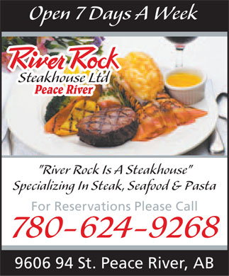 River Rock Steakhouse Ltd (780-624-9268) - Annonce illustrée